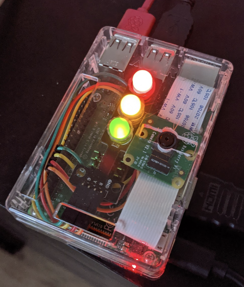 Raspberry Pi 3 used to collect data